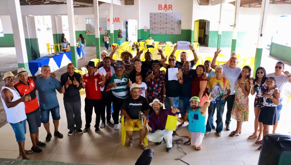 Osmar Filho participou de encontro com cantadores de Bumba Meu Boi.