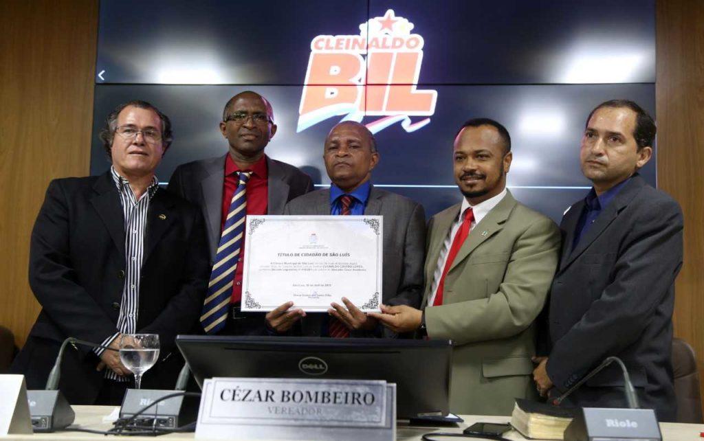 Presidente do Sindsep recebe título de cidadão de São Luís