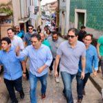 Osmar Filho acompanha prefeito na vistoria das obras no Centro Histórico