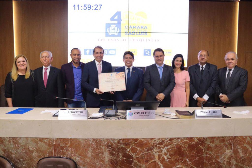 Câmara concede Título de Cidadão de São Luís ao advogado Eli Medeiros
