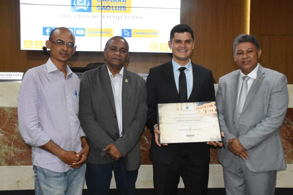 Câmara concede Título de Cidadão Ludovicense ao delegado Thiago Dantas