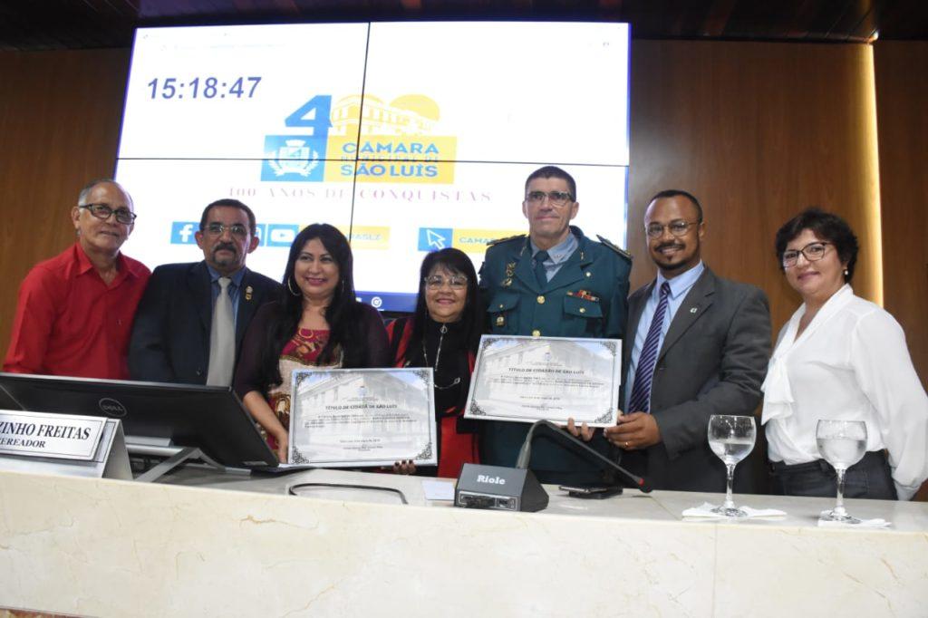 Câmara de São Luís entrega título de cidadão para Eugênia Miranda e Raimundo Andrade