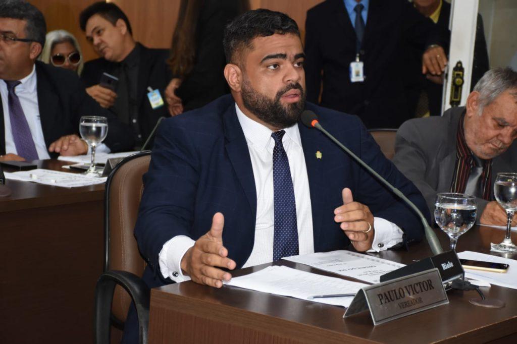 O vereador Paulo Victor