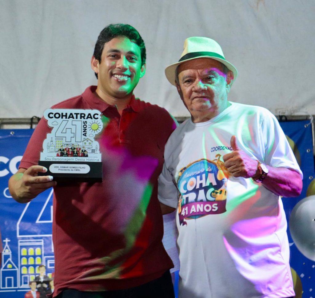 Osmar Filho é homenageado no aniversário de 41 anos do Cohatrac