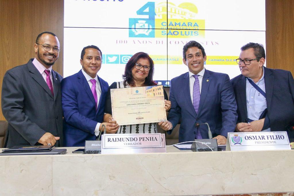 Câmara concede título de Cidadã de São Luís a Lisetânia Soeiro