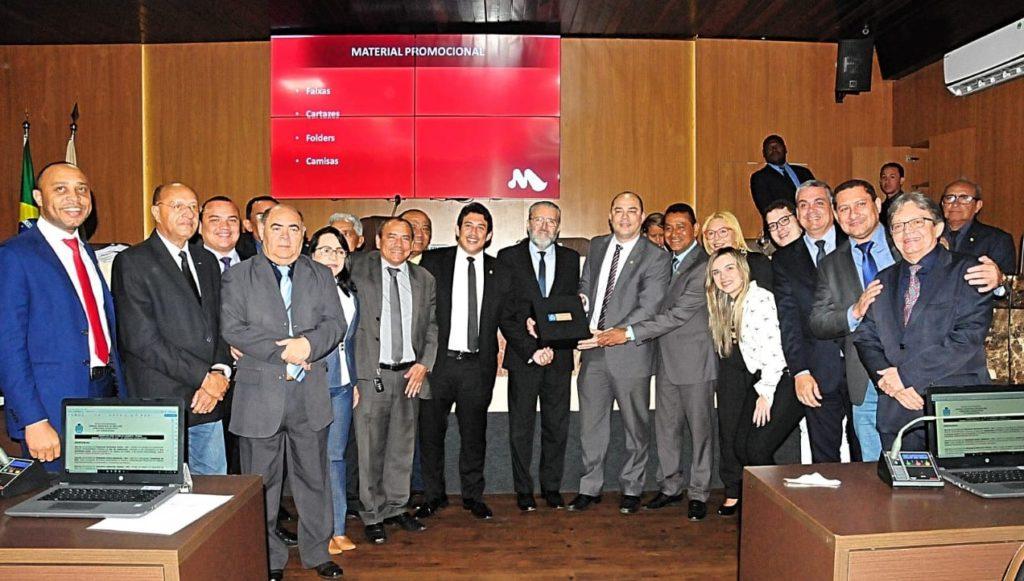 Vereadores receberam representantes do Grupo Mercúrio na CMSL.