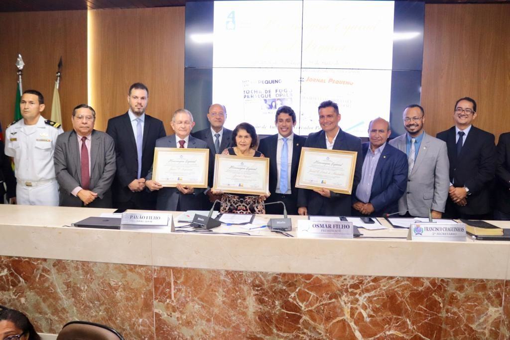 Câmara de São Luís presta homenagem aos jornais O Imparcial, O Estado e Pequeno
