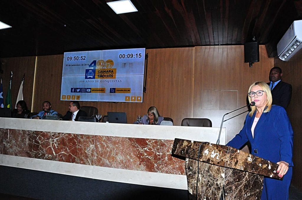 A procuradora da Mulher da Câmara Municipal de São Luís, vereadora Bárbara Soeiro (PSC)