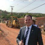 Asfalto chega ao Tibiri após solicitação de Umbelino Junior