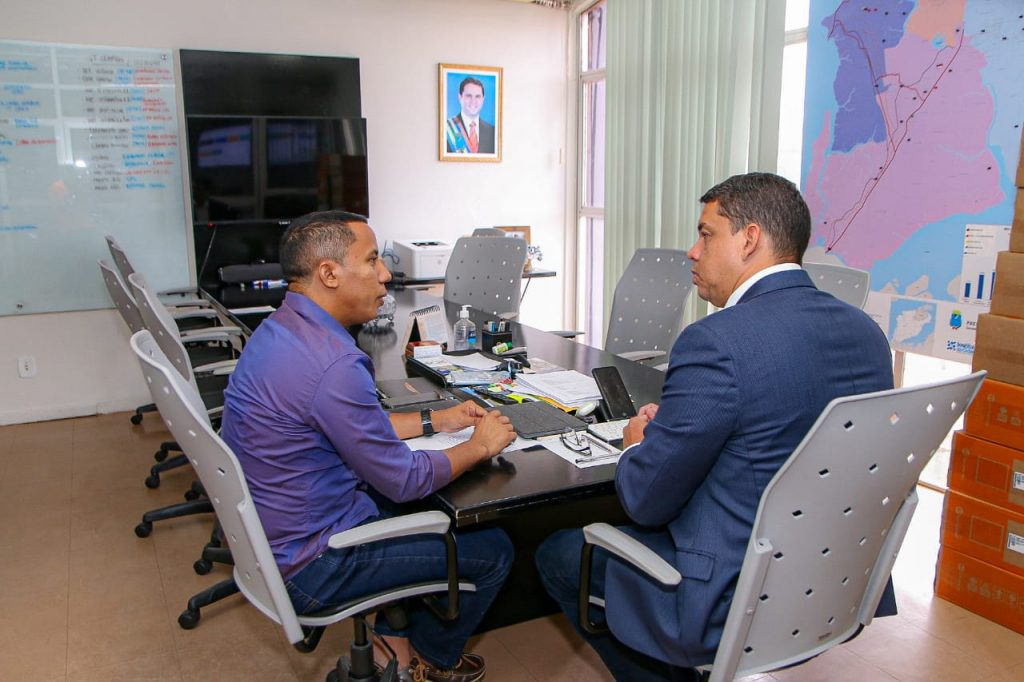 Raimundo Penha reuniu-se com o secretário Lula Filho nesta quarta-feira.