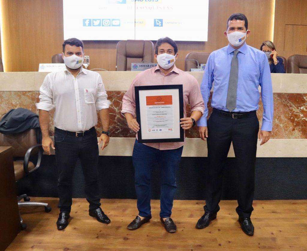 Na gestão Osmar Filho, Câmara de São Luís recebeu a certificação de qualidade do ISO 9001.